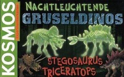 Kosmos  630072 Nachtleuchtende Gruseldinos TRICERATOPS & STEGOSAURUS Skelette