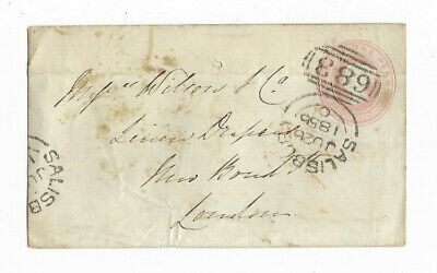 1856 Salisbury Great Britain 1d PINK #683 Canceled Cover