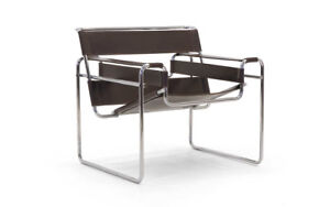 Early Original Gavina Wassily Chair by Marcel Breuer in Brown