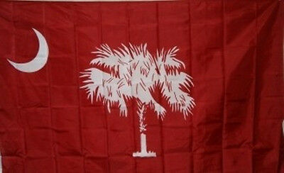 3x5 ft South Carolina Red Citadel Palmetto State Flag Print Polyester