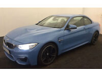 Blue BMW M4 3.0 M DCT 2015 M4 FROM £165 PER WEEK!