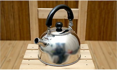 [Sale]1L Liter Stainless Steel Tea Kettle Water Pot Heat Silver anti-heat handle