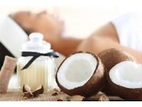 Coconut oil massage