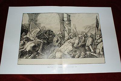 Der Volkskrieg-Französische Radierung-A.Legros-1900