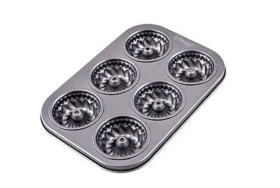 Non Stick Muffin Pan Tin Round Steel Tray Baking Rectangle Cupcake Cake 26x18 cm Non-stick Steel Muffin Pan