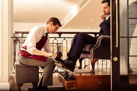 Luxury shoeshiner (training provided) for in-store service £8.50p/h plus tips - temporary co