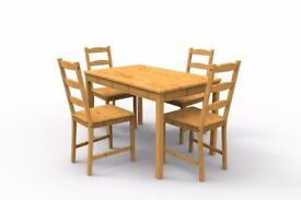 IKEA JOKKMOKK PINE TABLE AND FOUR CHAIRS *NEW* collect Chelsea, London, SW10**
