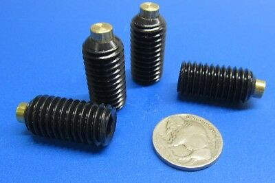 "Alloy Steel Set Screws, Brass Tip, 1/2-13 x 1.0"" Length, 10 Pieces for sale  Shipping to India"