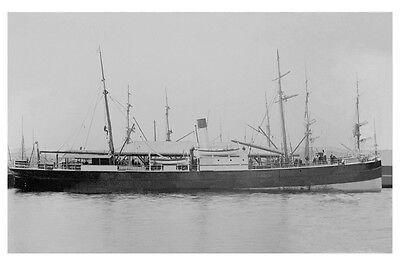 ESK  TASMANIAN S N Co, Hobart built 1877 sunk 1886 Modern Digital Photo Postcard