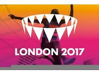 2017 IAAF World Athletics Championships Cat. C 2x Tickets £60 - 7th August Evening Session