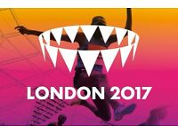 2017 IAAF World Athletics Championships Cat. C 2x Tickets £60 - 11th August Evening Gold Session