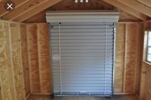 Looking for 6' wide roll up shed door