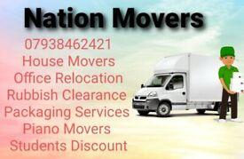NATION MOVERS-House Office Piano Furniture Moving Rubbish Removals Man and Van PackingService