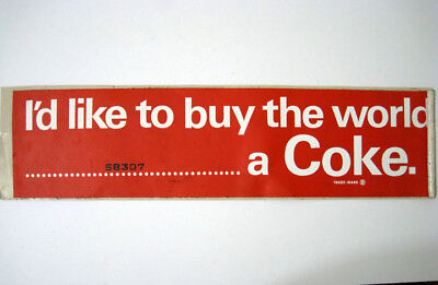 I'd Like To Buy The World A Coke ® Sticker Decal - New Vintage