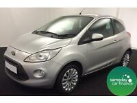 £110.50 PER MONTH SILVER 2014 FORD KA 1.2 ZETEC S/S 3 DOOR PETROL MANUAL