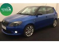 ONLY £171.14 PER MONTH BLUE 2012 SKODA FABIA 1.4 VRS DSG 5 DOOR PETROL AUTO