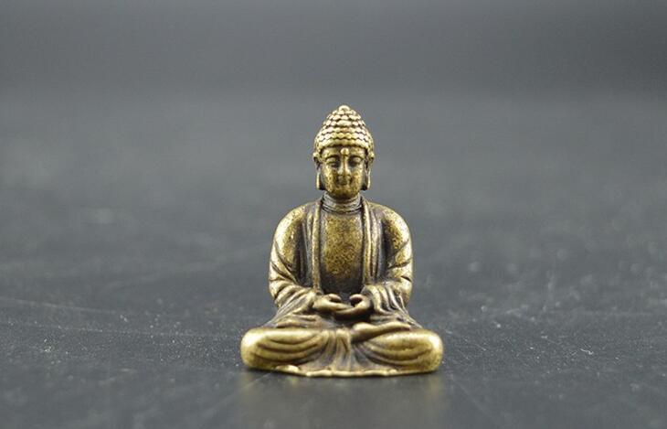 Chinese pure brass Sakyamuni Buddha small statue #2