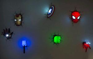 Lumière 3D DEL de Marvel