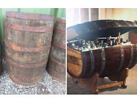 Solid Oak Whiskey Barrels For Sale ** REDUCED IN PRICE** NOW ONLY £50.00***