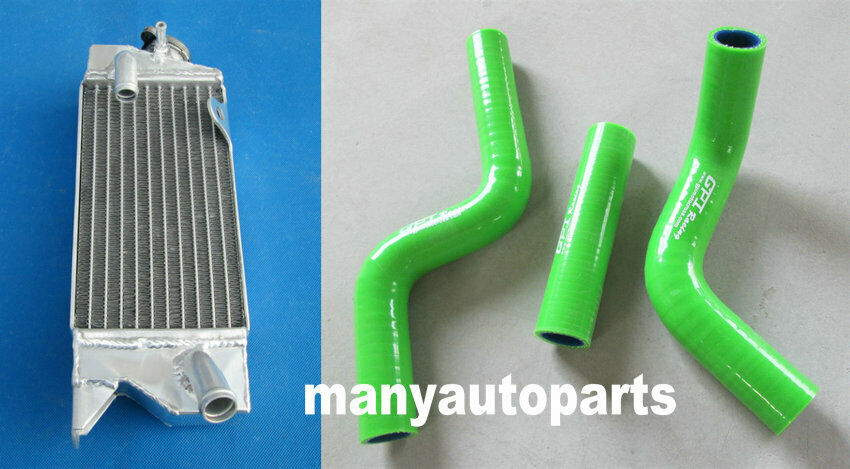 Aluminum Radiator compatible with Kawasaki KX80 KX85 KX100 1998-2009 with stopper side
