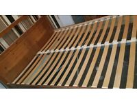 SOLID WOOD PINE. KING SIZE BED WITH MATTRESS