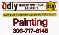 For all your interior and exterior painting needs call Ddiy