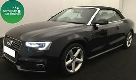£263.50 PER MONTH AUDI A5 CONVERTIBLE 2.0 TDI 177 2012 S LINE DIESEL MANUAL