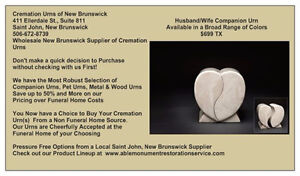WE ARE THE LARGEST CANADIAN WHOLESALE SUPPLIER OF CREMATION URNS