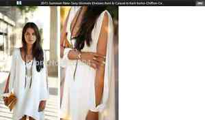 1 WHITE, AND 1 BLACK DRESSES WITH OPEN SLEEVES ( NEW )