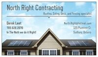 North Right contracting / roofing, decks, siding, fencing