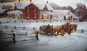 """Walter Campbell """"Country Homestead"""" Country Winter Scene Stratford Kitchener Area image 4"""