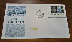 1965 Robert Fulton 5 Cent First Day Cover Kitchener / Waterloo Kitchener Area image 2