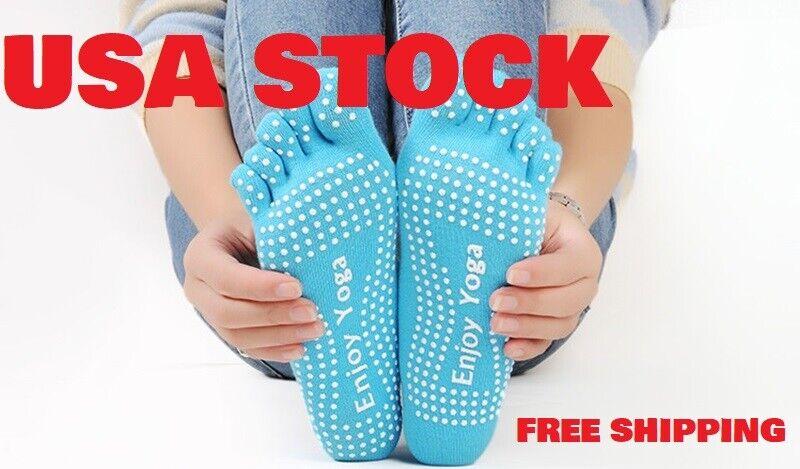 1Pairs Women Yoga Socks Non Slip Pilates Massage Sport Ankle