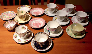 Antique cups & saucers Assorted