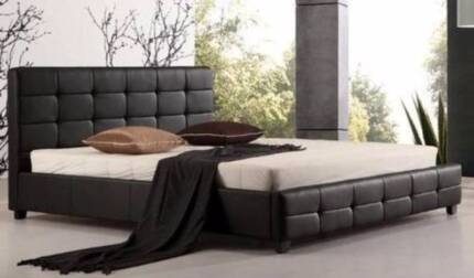 Brand New Ella Full Pu Leather King Bed. Mattress Not Included