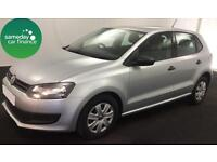 ONLY £158.39 PER MONTH SILVER 2014 VW POLO 1.2 S 5 DOOR PETROL MANUAL