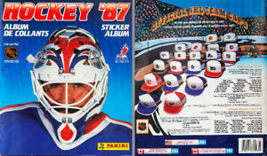 1987 Vintage Panini Hockey '87 Sticker Album with Stickers