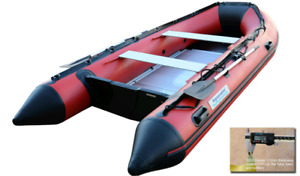 NEW-2018 Aquamarine 12.5 Ft Inflatable Boat Heavy Duty Red/Black