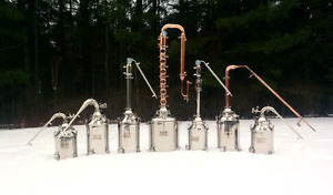 COPPER AND STAINLESS MOONSHINE STILLS