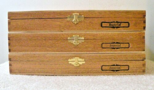 """$6<>3 LARGE 11.5""""x7"""" Padron Wood Storage Boxes<>A Lot Of Storage For $6<>$2 Each"""