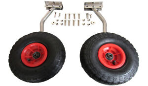Launching wheels for small boat dinghy