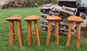 BAR STOOLS - HAND MADE - SOLID PINE