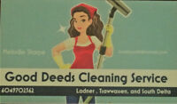 Good Deeds Cleaning Service Tsawwassen, South Delta and Ladner