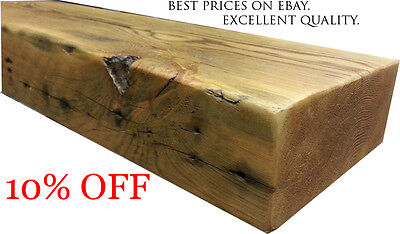 Reclaimed Floating Shelf Chunky Wooden Mantel Custom Pine Timber FREE DELIVERY