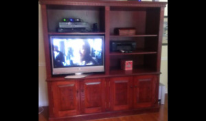 Oak Entertainment, TV, Shelving, Bookcase, Display unit.