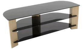 New Assembled corner glass TV Storage unit £60. Real Bargains Clearanc