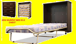 MINI MURPHY BED IN A CHEST COMPLETE WITH MATTRESS $449 ONLY