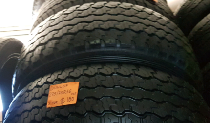 Dunlop s/h 275.70x16 $70 ea or $90 fitted. Cannington Canning Area Preview