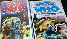 Dr Who books x 2