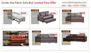 Don't miss out  Huge Savings on Condo size fabric sofa bed Sale